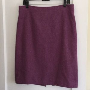 J. Crew no2 wool pencil skirt purple sz12